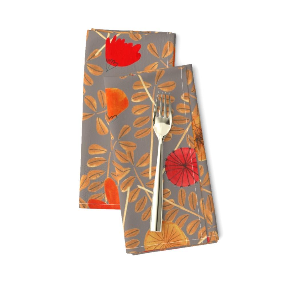Amarela Dinner Napkins featuring pattern #7 by irenesilvino