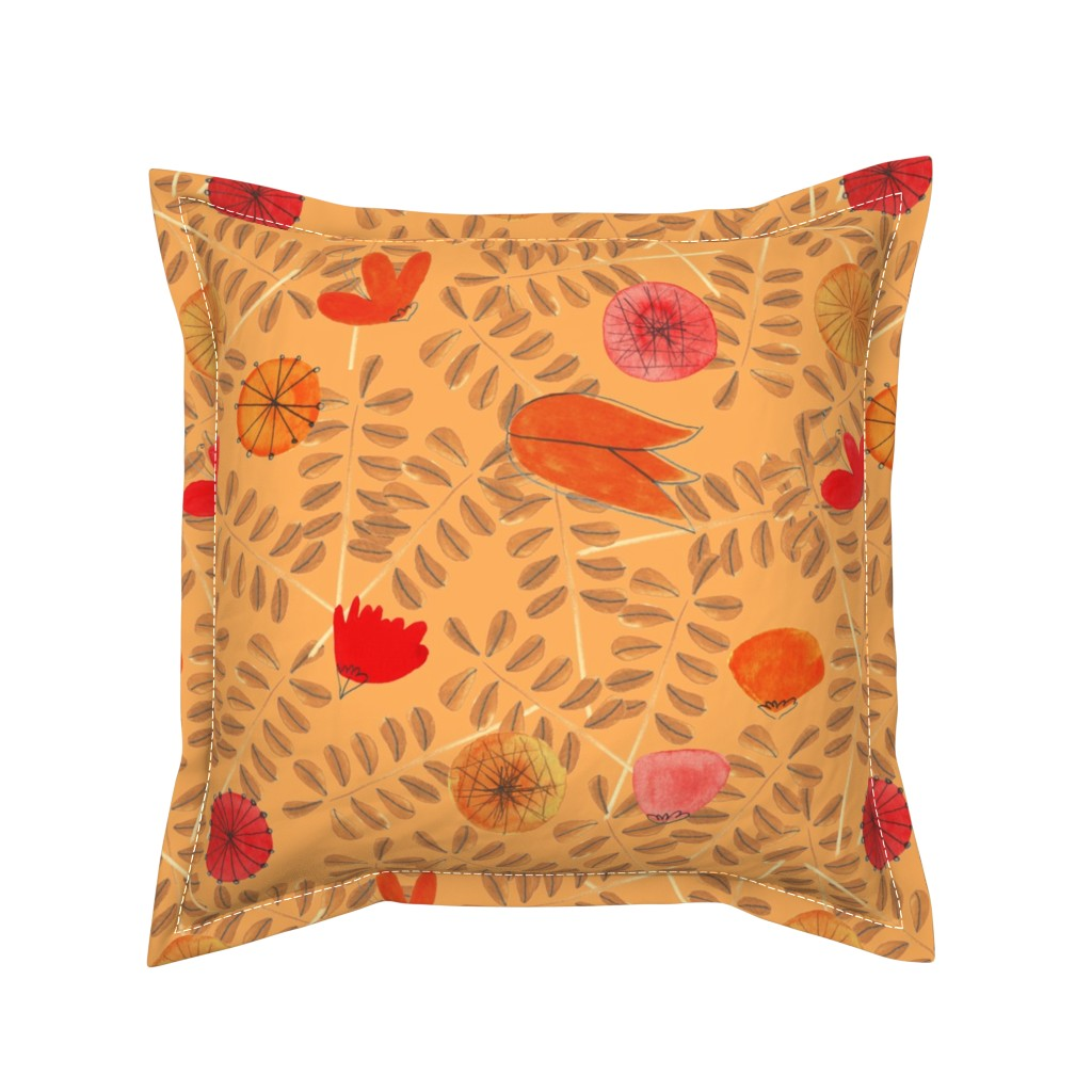 Serama Throw Pillow featuring pattern #19 by irenesilvino