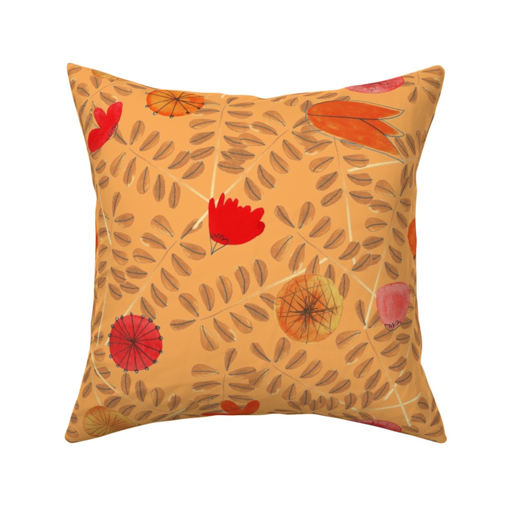 Catalan Throw Pillow featuring pattern #19 by irenesilvino