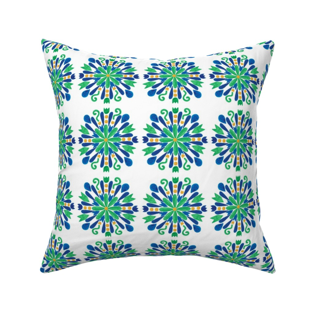 Catalan Throw Pillow featuring pattern #6 by irenesilvino