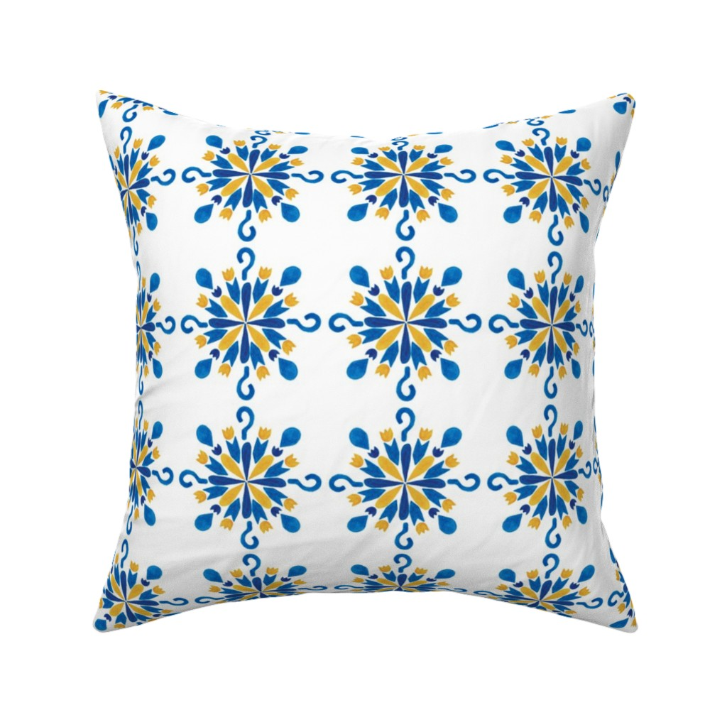 Catalan Throw Pillow featuring pattern #38 by irenesilvino