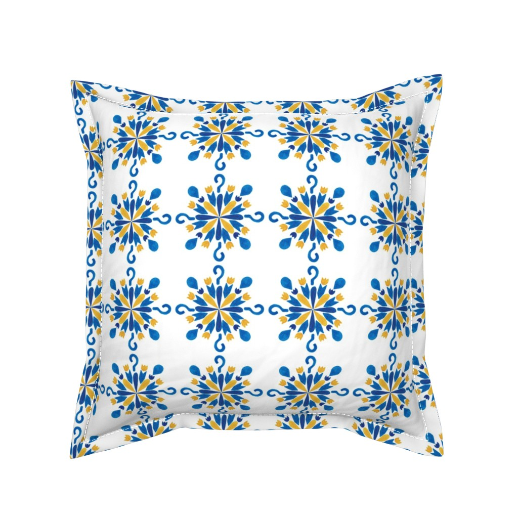 Serama Throw Pillow featuring pattern #38 by irenesilvino
