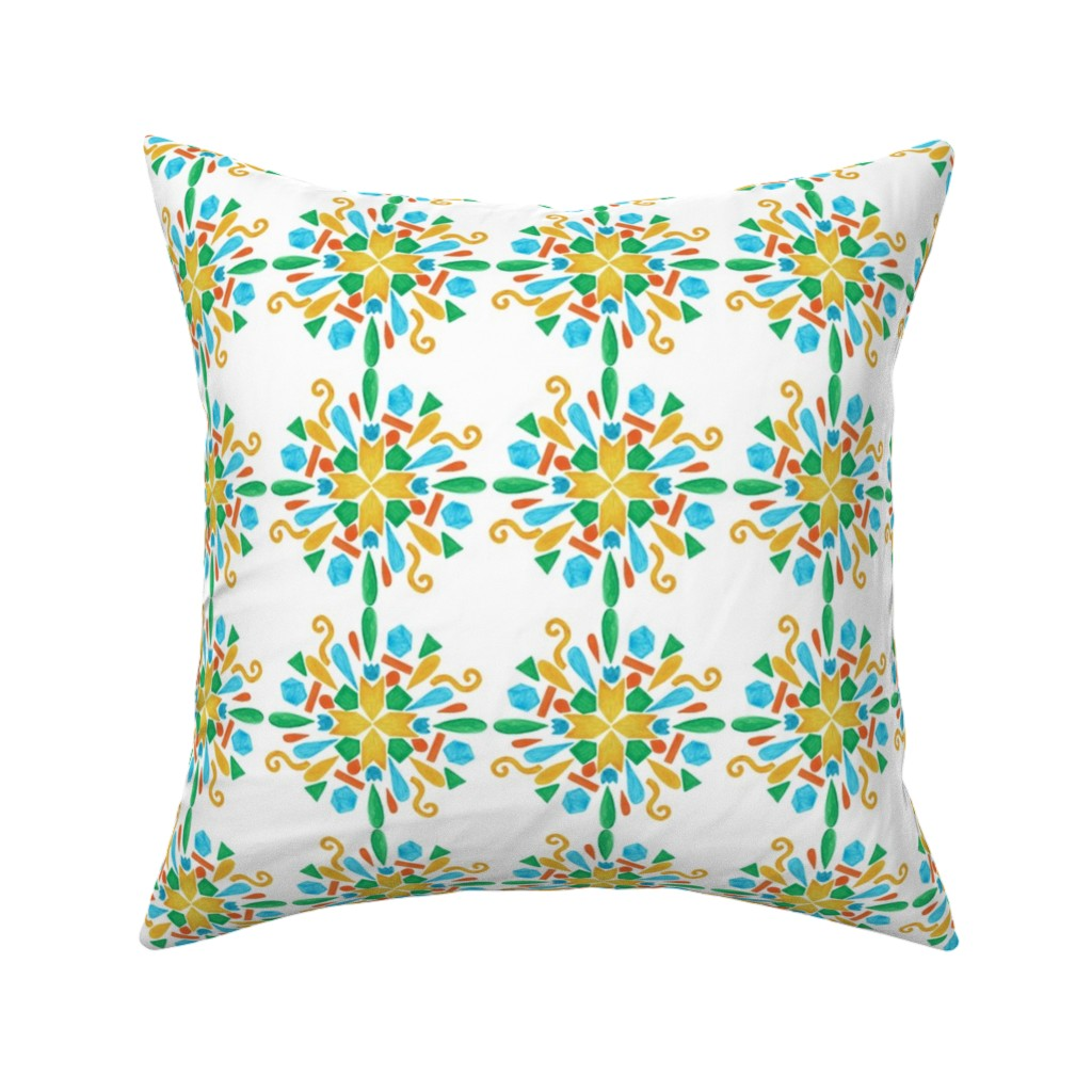 Catalan Throw Pillow featuring pattern #24 by irenesilvino