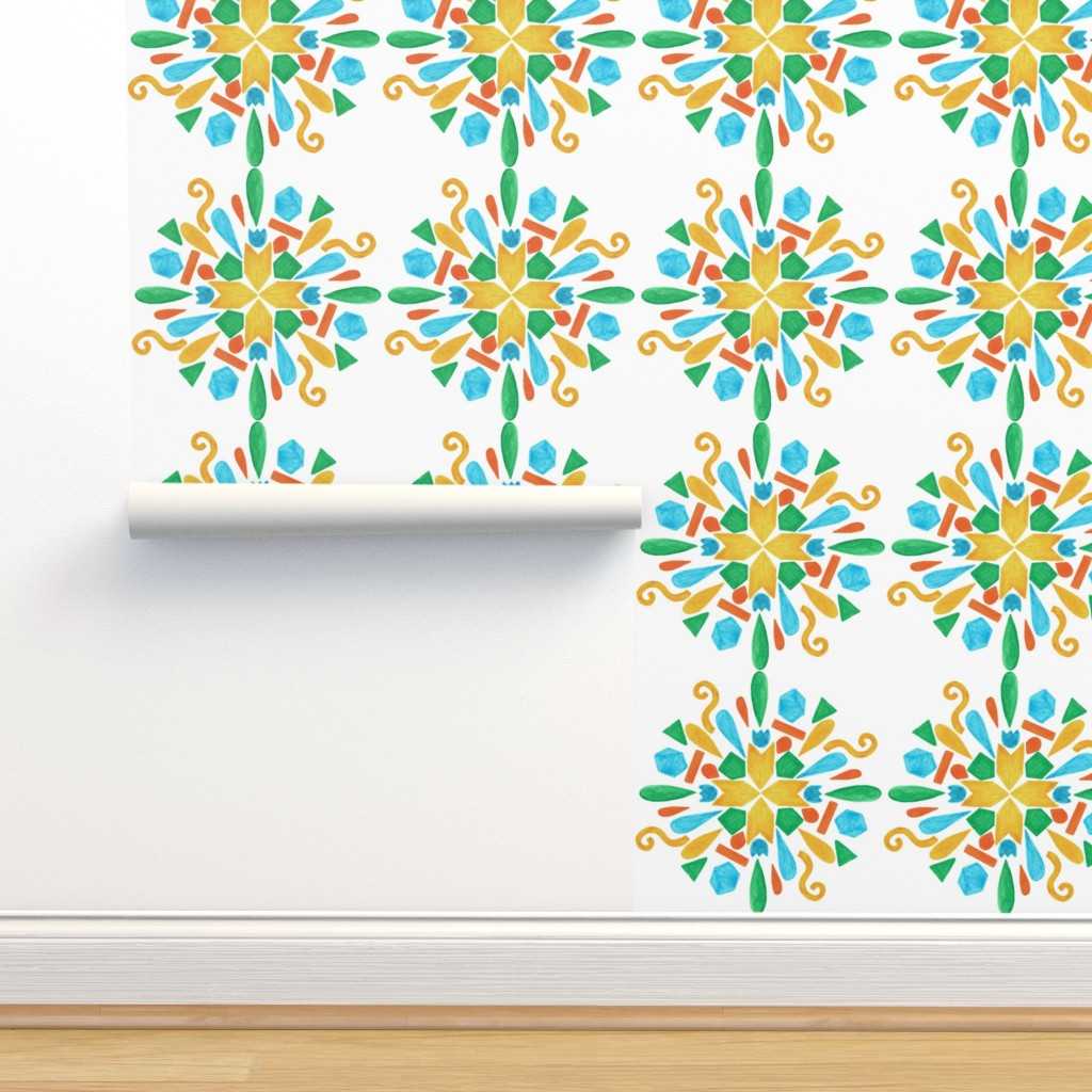 Isobar Durable Wallpaper featuring pattern #24 by irenesilvino