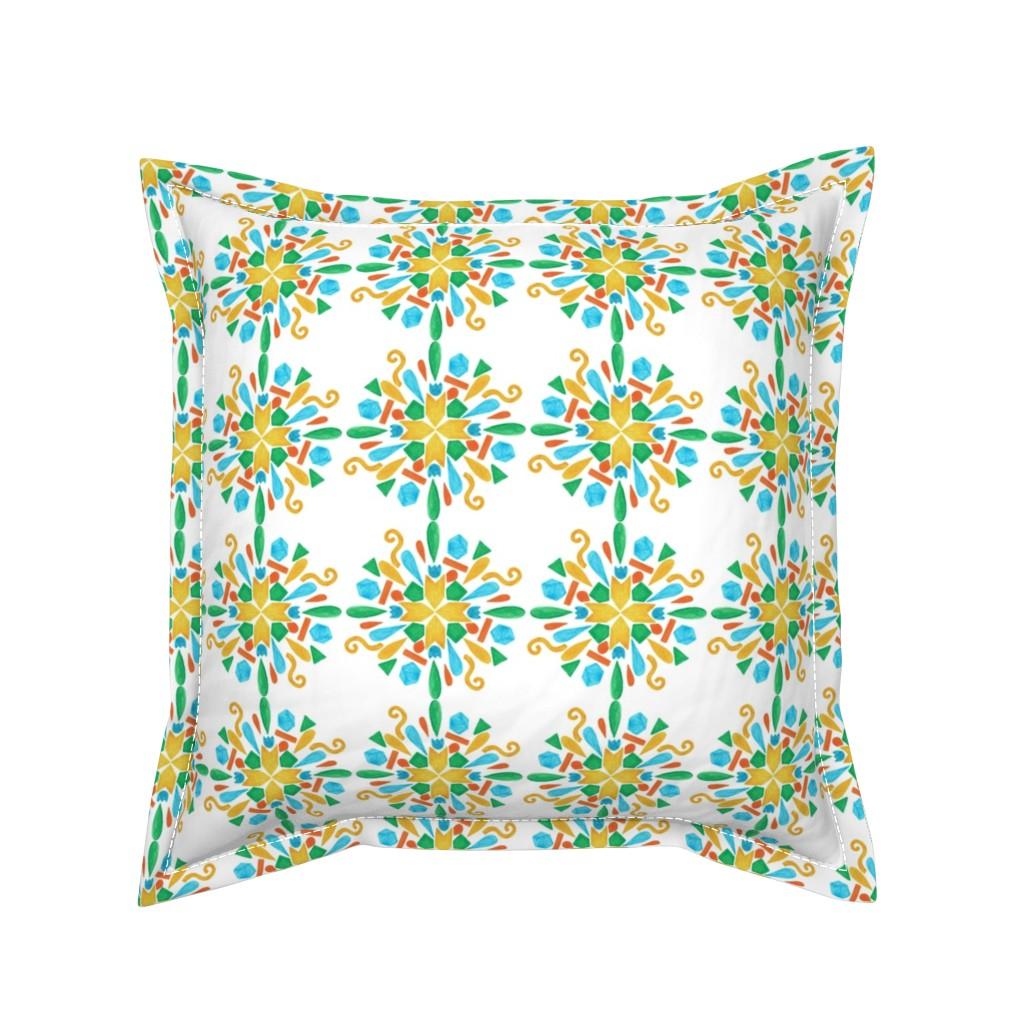 Serama Throw Pillow featuring pattern #24 by irenesilvino