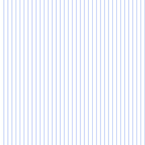 Cornflower Blue and White Pinstripe