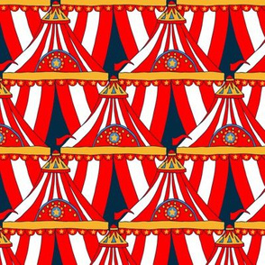 Circus Tents - Red, White