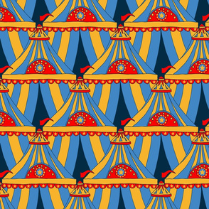 Circus Tents - Yellow, Blue