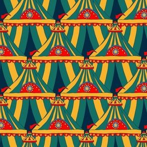 Circus Tents Large - Yellow, Green