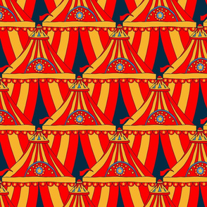 Circus Tents - Yellow, Red