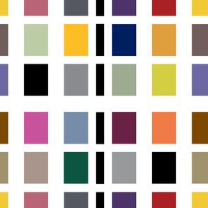 Color Block . Mid-Century Bright #1