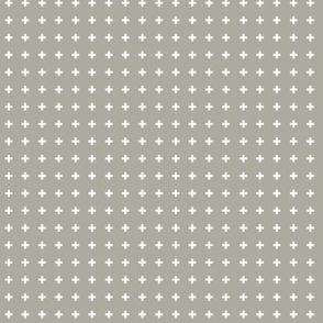 Swiss Crosses - Cove Gray White
