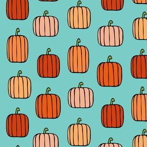 orange pumpkins on aruba