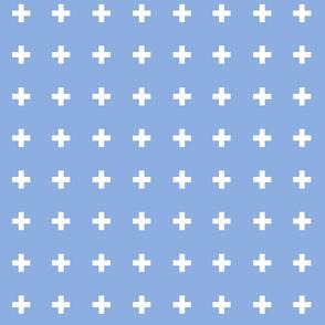 Swiss Crosses - Perfect Blue