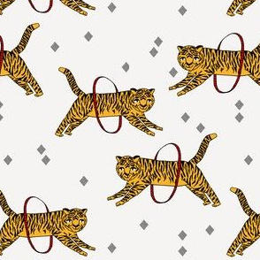 tiger fabric // circus nursery baby design circus - yellow