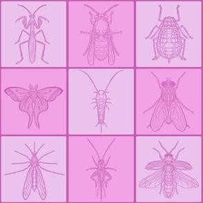 Pink Grid Bug Tile