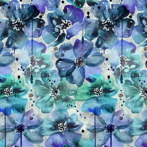 teal blue anemones