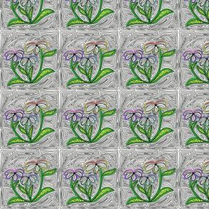 Rainbow Daisy Maze