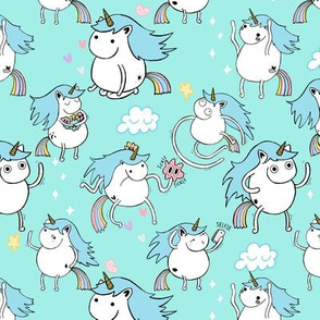 Unicorn Party - Pastel Blue