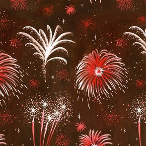 Summer Fireworks Show in antique red