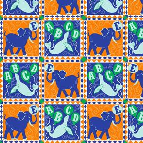 Animal Alphabet Circus Quilt
