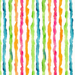 Watercolor Stripes Large