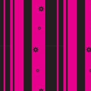 Fuchsia & Black Stripe