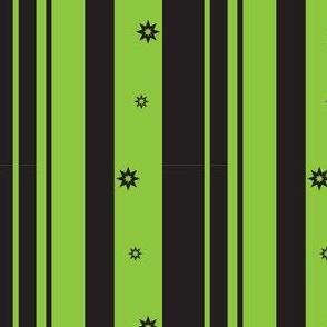 Green & Black Stripes & Stars