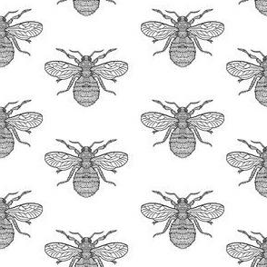 Bees - Half Drop Pattern Tile