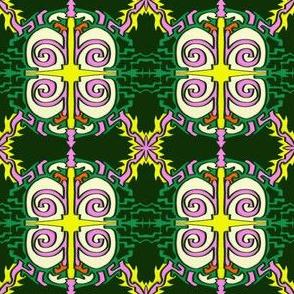 Swirly Pattern Green