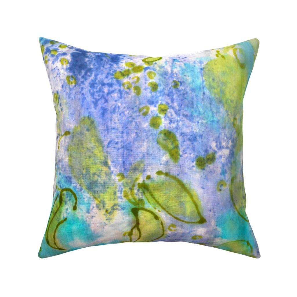Catalan Throw Pillow featuring Lilac Splendor by dorothyfaganartist