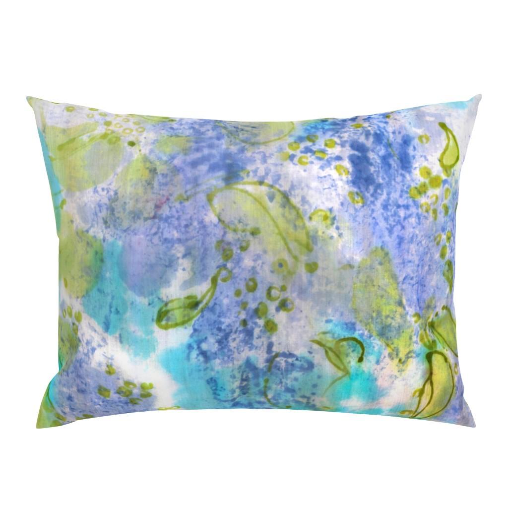 Campine Pillow Sham featuring Lilac Splendor by dorothyfaganartist