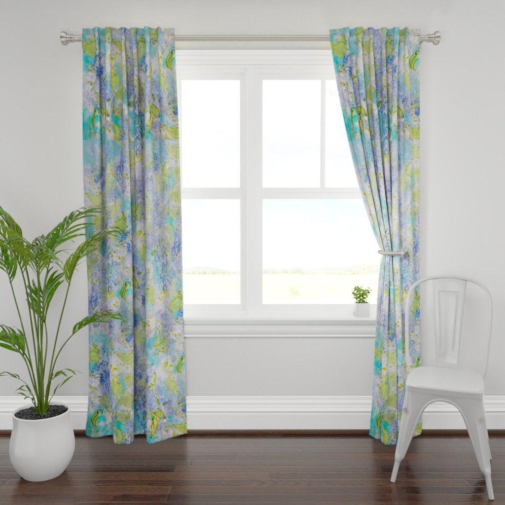 Plymouth Curtain Panel featuring Lilac Splendor by dorothyfaganartist