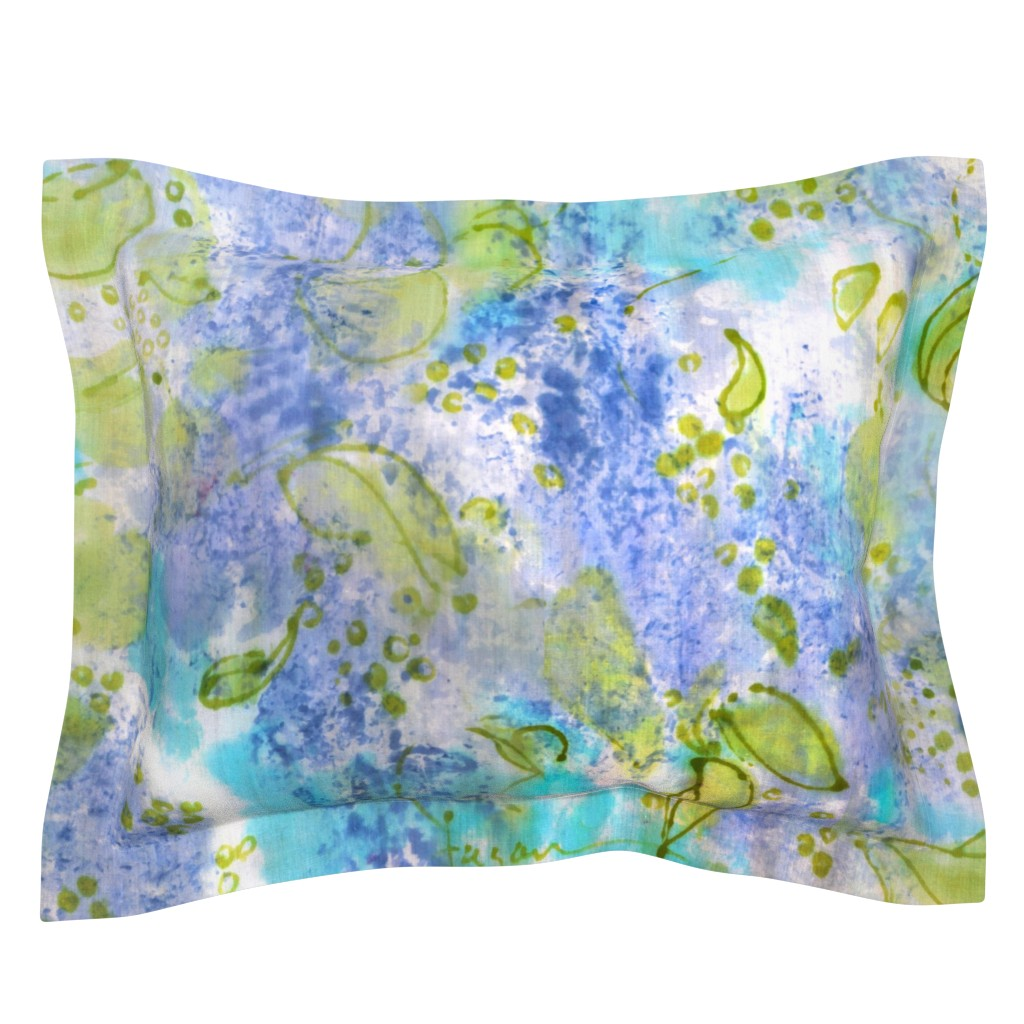 Sebright Pillow Sham featuring Lilac Splendor by dorothyfaganartist