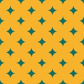 Circus Diamonds - Green, Yellow