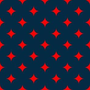 Circus Diamond - Red, Navy