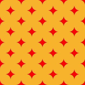 Circus Diamond - Red, Yellow