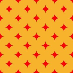 Circus Diamond - Red, Yellow