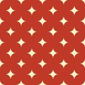 Circus Diamond - Vintage Cream, Red