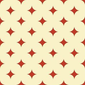 Circus Diamond - Vintage Red, Cream
