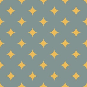 Circus Diamond - Vintage Yellow, Blue