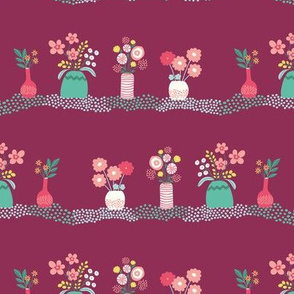 fresh flowers - burgundy
