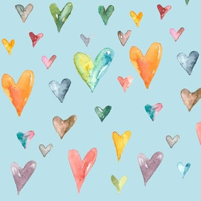 Multiculti hearts blue