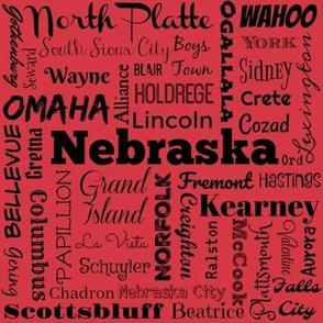 Nebraska cities, red 2