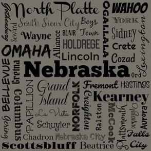 Nebraska cities 2, taupe