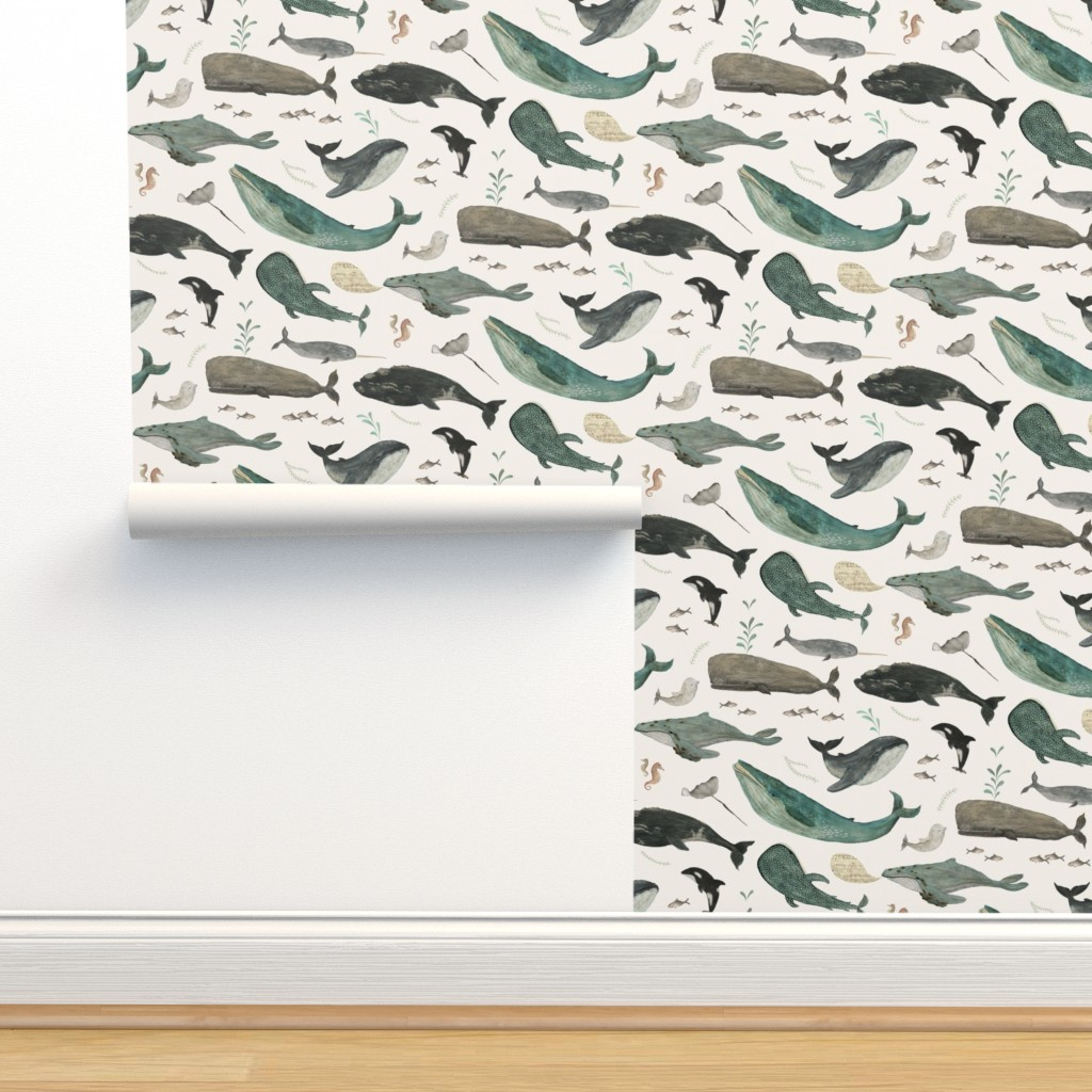 Isobar Durable Wallpaper featuring Whale's song by katherine_quinn