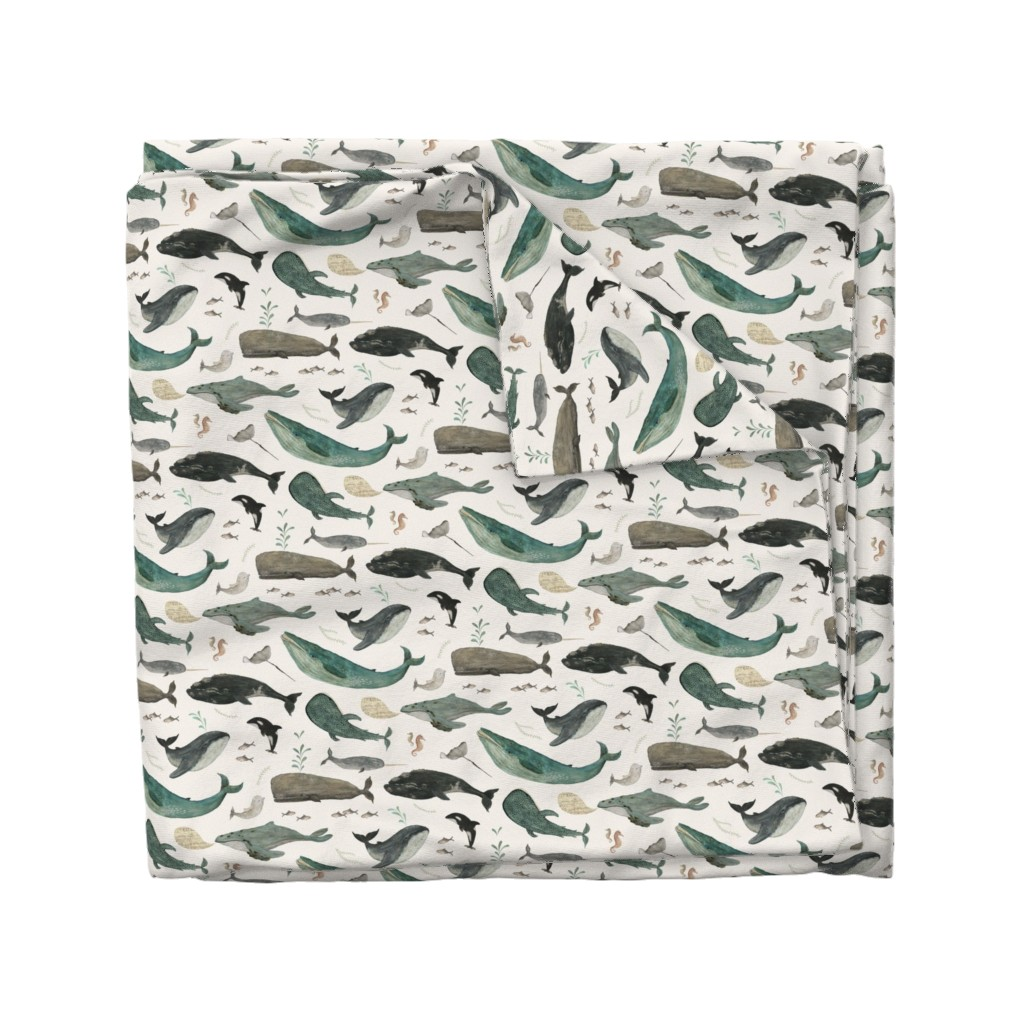 Wyandotte Duvet Cover featuring Whale's song by katherine_quinn