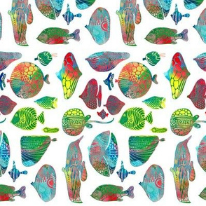 Fish in rainbow colors