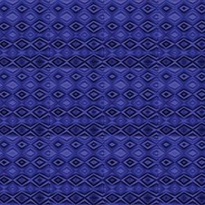 Diamonds Blue Upholstery Fabric
