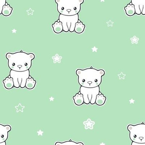 Cute baby bear and stars